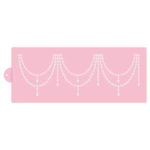 Double Beaded Swag Cake Stencil