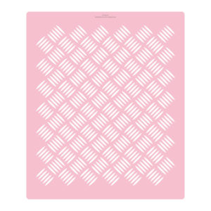 Extra Tall Check Plate Cake Stencil Extra Tall