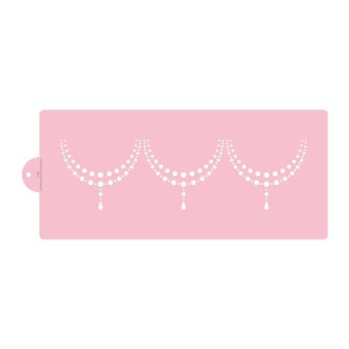 Simple Double Beaded Swag Cake Stencil