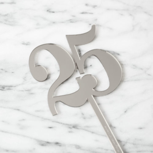 SALE - Classic Number 25 Cake Topper