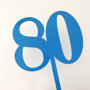 SALE - Classic Number 80 Cake Topper Blue