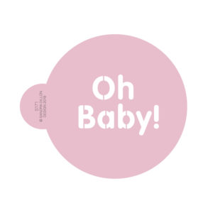 Cute Oh Baby Cookie Stencil