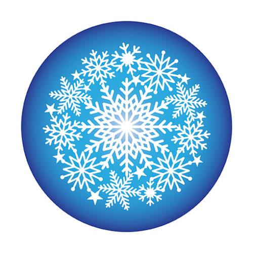 Snowflake Lace Cake Top Stencil Mask