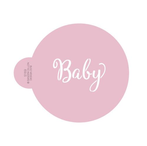 Sweet Baby Cookie Stencil