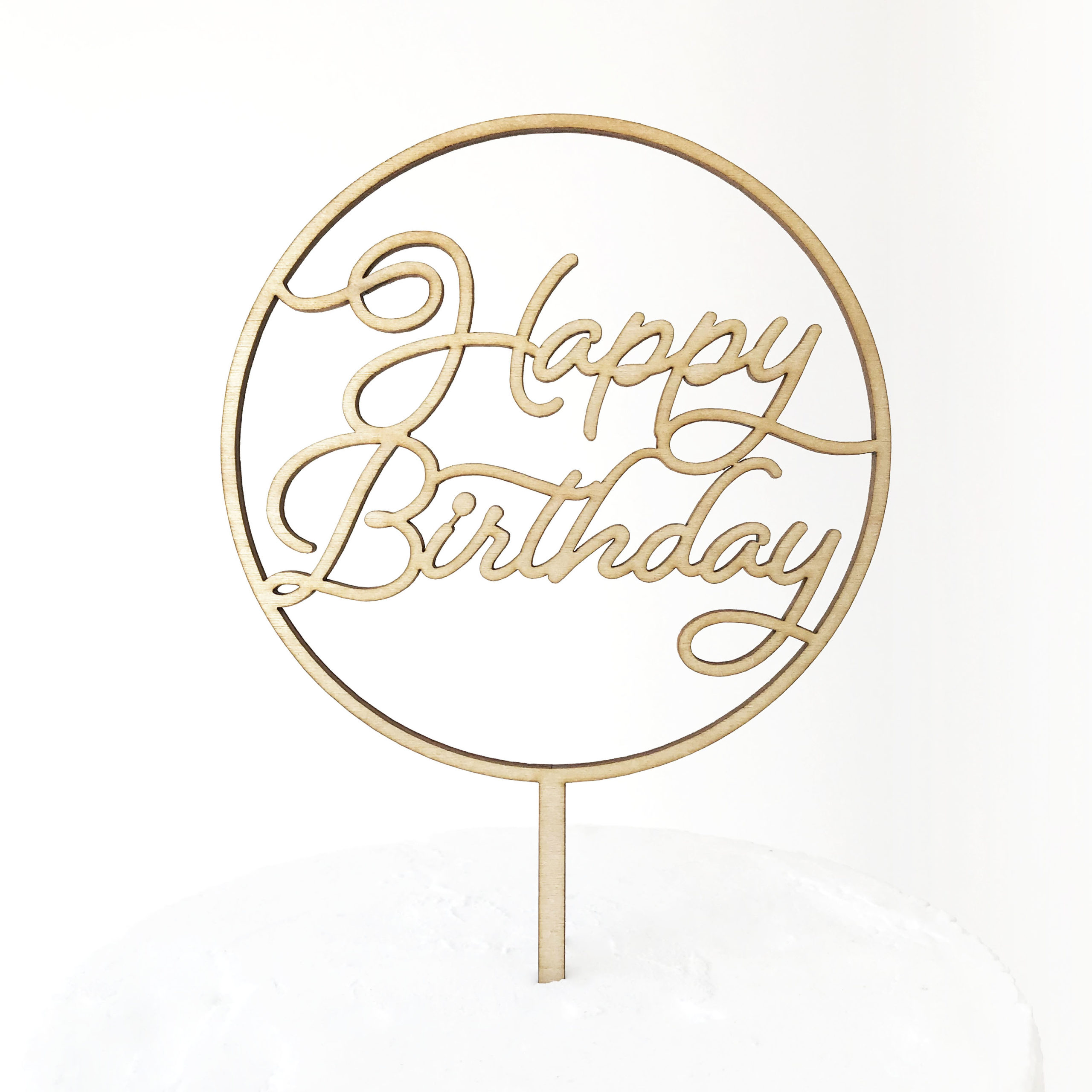 Gather Round Happy Birthday Cake Topper Sandra Dillon Design