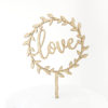 Love Wreath Cake Topper in Maple Timber
