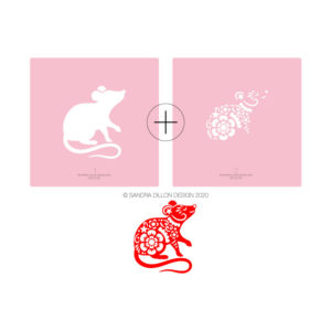 Lunar New Year 2020 Rat Stencil