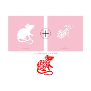Lunar New Year 2020 Rat Stencil