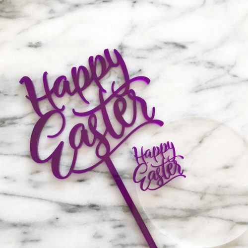 Fun Happy Easter Cake Topper