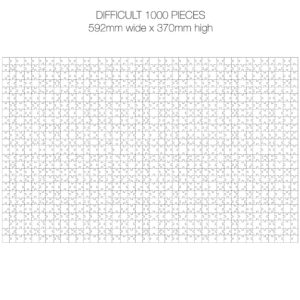 1000 Piece White Jigsaw Puzzle - HARD Cheat Sheet