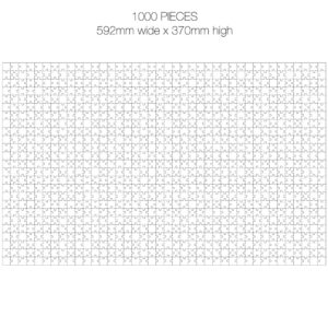 1000 Piece White Jigsaw Puzzle - EASY Cheat Sheet