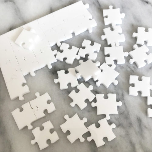 1000 Piece White Jigsaw Puzzle - EASY