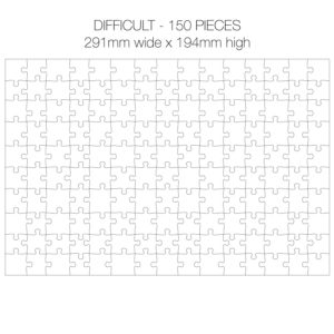 150 Piece White Jigsaw Puzzle - HARD Cheat Sheet