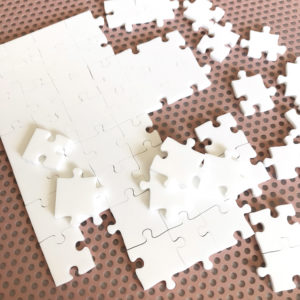 150 Piece White Jigsaw Puzzle - HARD