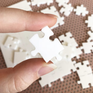 150 Piece White Jigsaw Puzzle - HARD