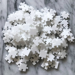 150 Piece White Jigsaw Puzzle - EASY