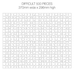 500 Piece White Jigsaw Puzzle - HARD Cheat Sheet