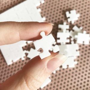 500 Piece White Jigsaw Puzzle - HARD