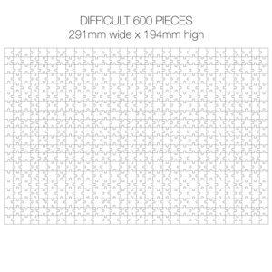 600 Piece White Jigsaw Puzzle - HARD Cheat Sheet