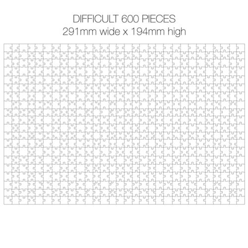 600 Piece White Jigsaw Puzzle - HARD Cheat Sheet