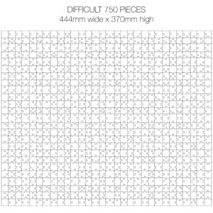 750 Piece White Jigsaw Puzzle - HARD Cheat Sheet