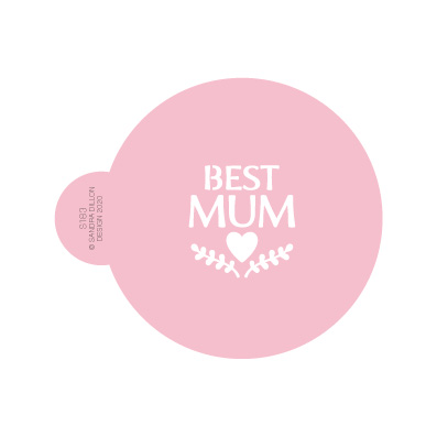 Best Mum Cookie Stencil