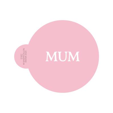 Classic Mum Cookie Stencil