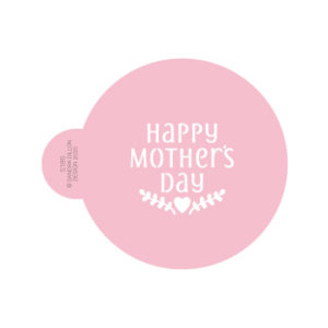 Happy Mother's Day Cookie Stencil