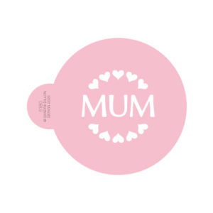 Mum Hearts Cookie Stencil