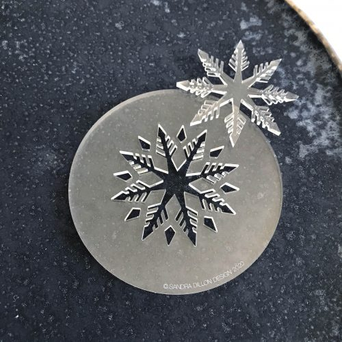 Feathery Snowflake Fondant Embosser