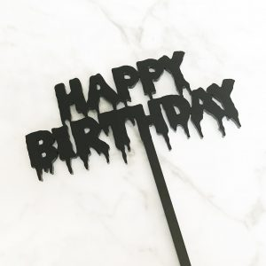 Ghoulish Happy Birthday Cake Topper