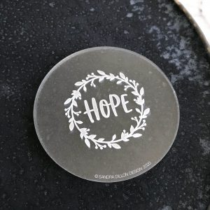 Hope Wreath Engraved Fondant Embosser