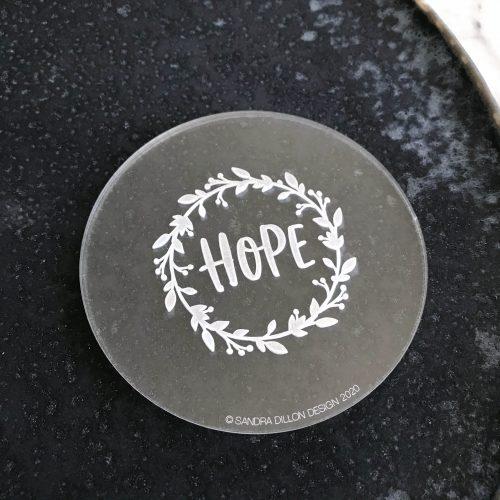 Hope Wreath Engraved Fondant Embosser
