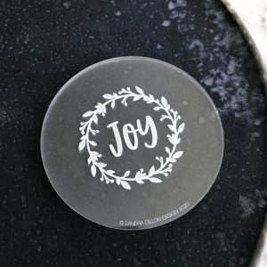 Joy Wreath Engraved Fondant Embosser