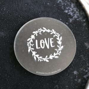Love Wreath Engraved Fondant Embosser