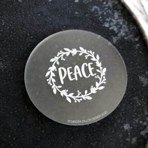 Peace Wreath Engraved Fondant Embosser