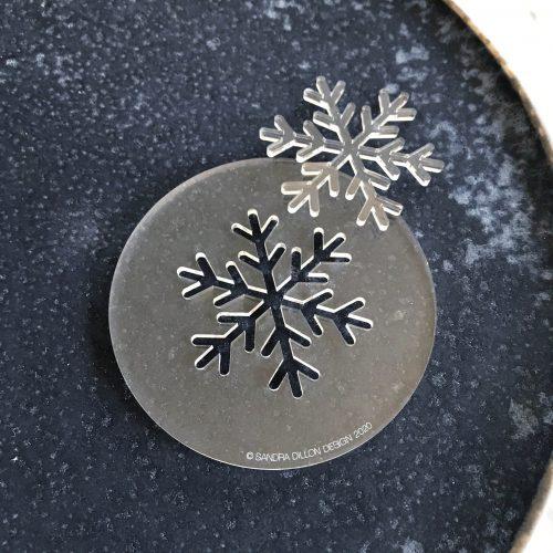 Simple Snowflake Fondant Embosser