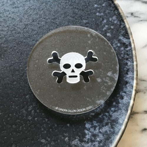 Skull and Crossbones Engraved Fondant Embosser