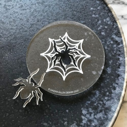 Spider Web Engraved Fondant Embosser