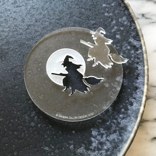 Witch Silhouette Engraved Fondant Embosser