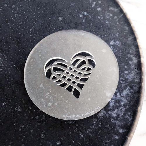 Calligraphed Heart Fondant Embosser
