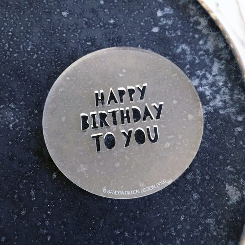 Happy Birthday To You Fondant Embosser