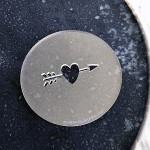 Heart and Arrow Fondant Embosser