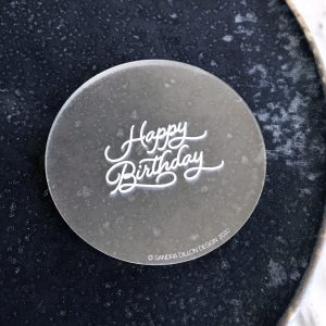Lovely Happy Birthday Engraved Fondant Embosser