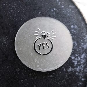 Yes Engagement Ring Fondant Embosser
