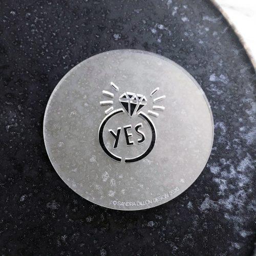 Yes Engagement Ring Fondant Embosser