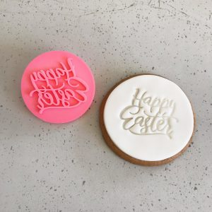 Fun Happy Easter Fondant Debosser with Cookie