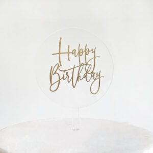 Lovely Floating Happy Birthday Cake Topper